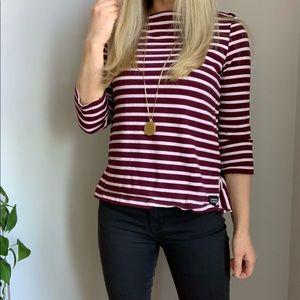 Kate Spade broom street striped top s small